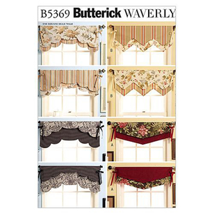 Butterick B5369 Fast & Easy Reversible Valances