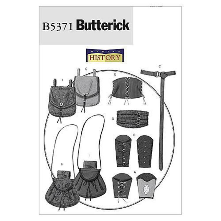 Butterick Pattern B5371 Teens' Wrist Bracers Corset Belt & Pouches
