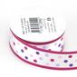 Celebrate 25 mm Satin Polka Dots Ribbon Pink