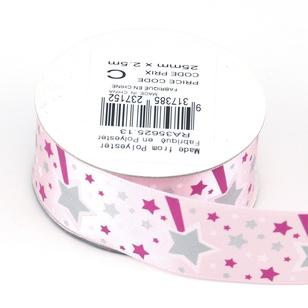 Celebrate 25 mm Satin Glitter Ribbon