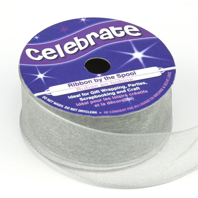 Celebrate 25 mm Organdie Wire Edge Ribbon