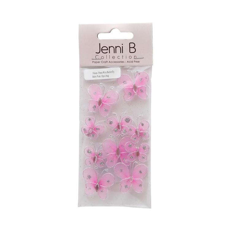 Jenni B Wire Butterfly Embellishments