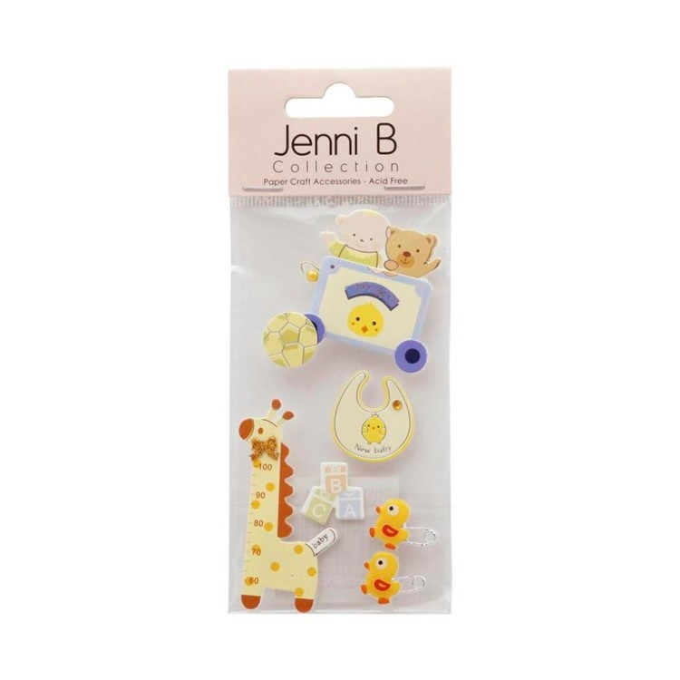 Jenni B Baby With Giraffe Stickers
