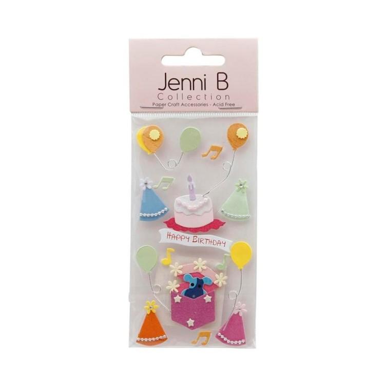 Jenni B Happy Birthday Stickers