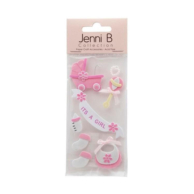 Jenni B It's a Girl Stickers