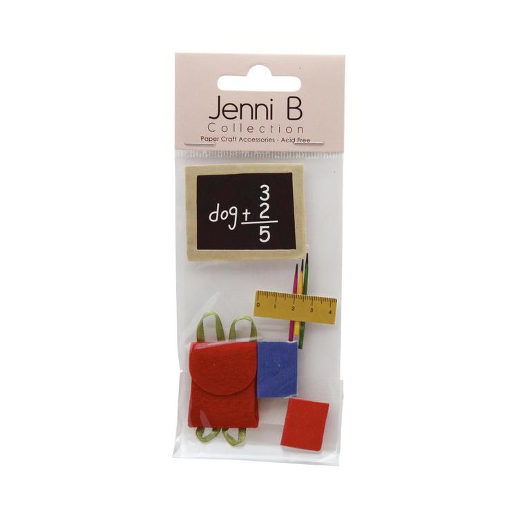 Jenni B School Stickers Multicoloured