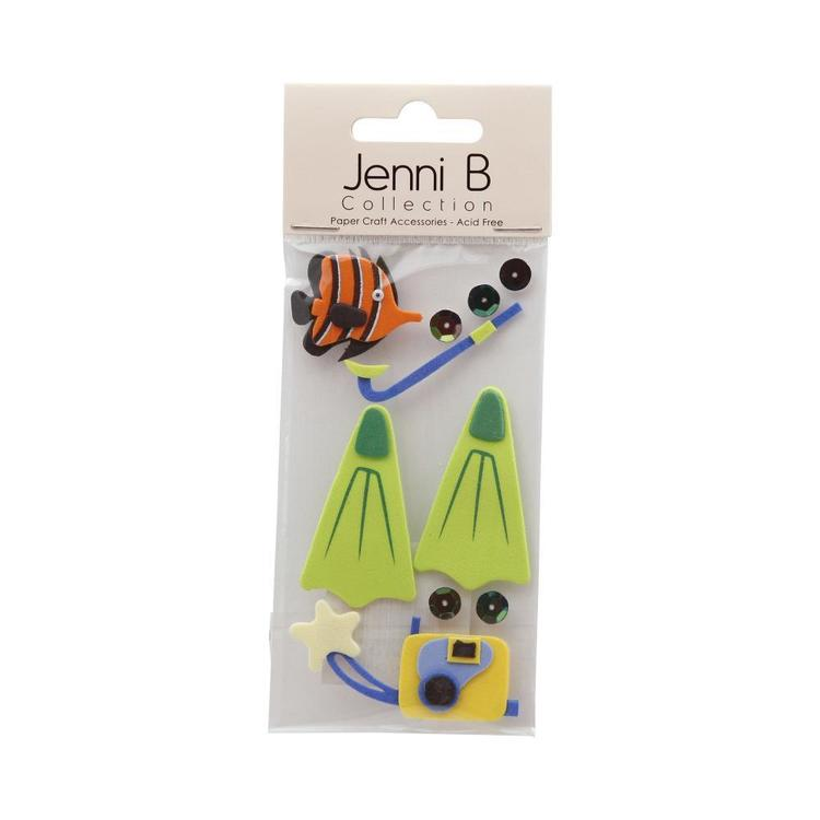 Jenni B Snorkelling Stickers Multicoloured