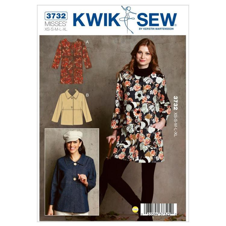 Kwik Sew Pattern K3732 Jackets  X Small - X Large