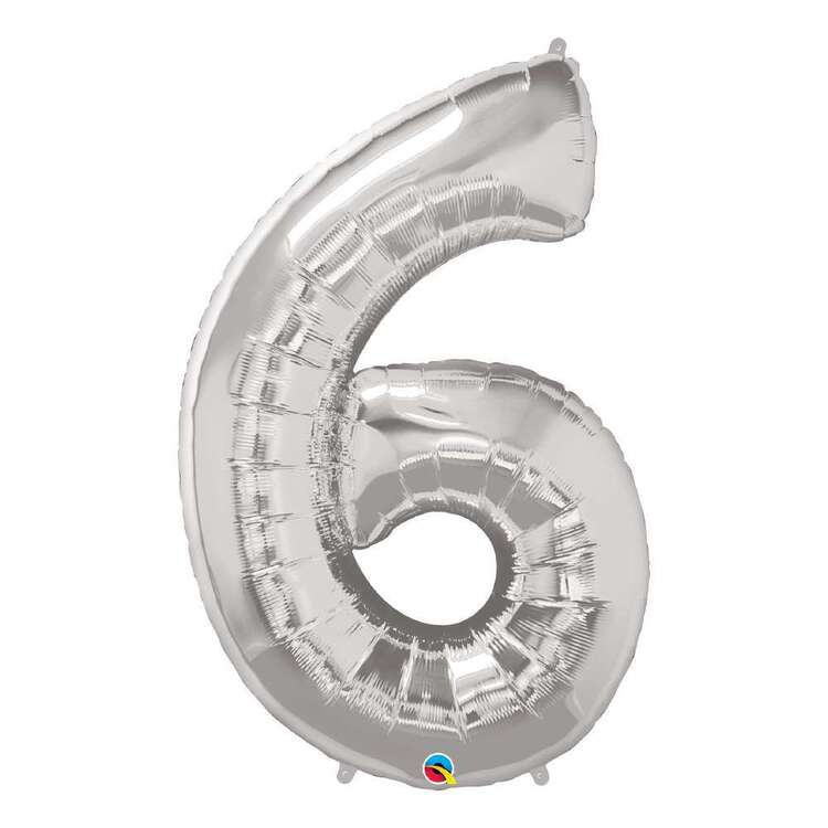 Qualatex Number 6 Foil Balloon