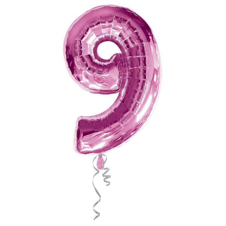 Qualatex Number 9 Foil Balloon