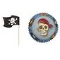 Wilton Blue Pirate Cupcake Combo 24 Pack Blue