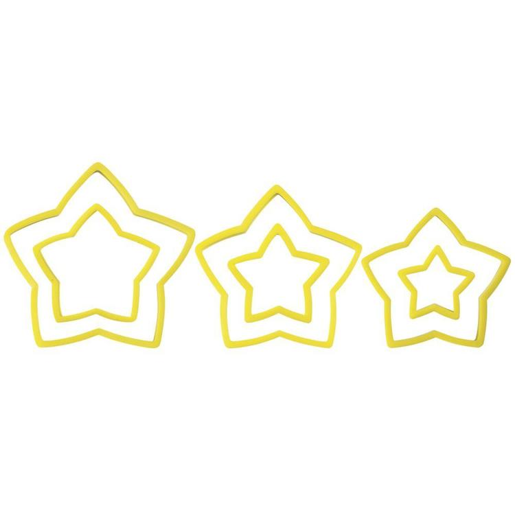 Wilton Nesting Star Cookie Cutter Set Yellow