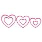 Wilton Cookie Cutter Nesting Heart Pink
