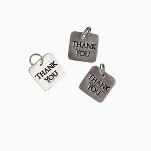 Favours Thank You Metal Tags 10 Pack
