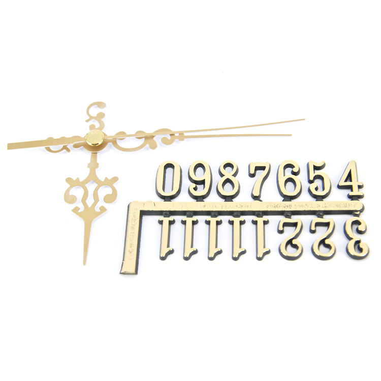 Shamrock Craft Clock Hands & Numbers Plain Gold 15 mm