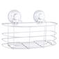Naleon Classic Super Suction Oval Basket Chrome