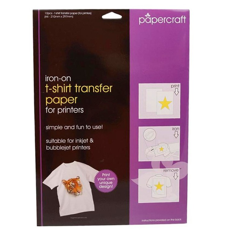 Papercraft T-Shirt Transfer Paper Pack White A4