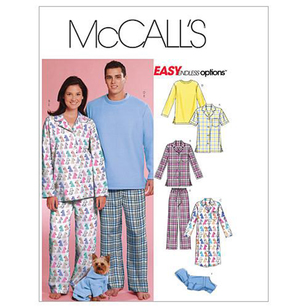 McCall's Pattern M5992 Teens' Tops Nightshirt Pants & Sweatsuit For Dog