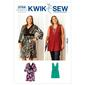 Kwik Sew Pattern 3754 Women's V-Neck Dress and Tunic 1X - 4X