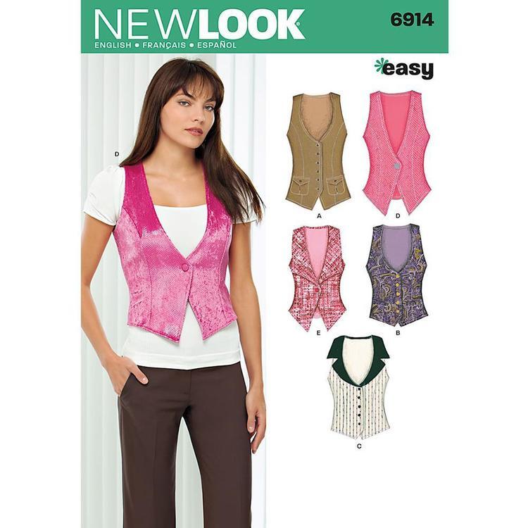 New Look Pattern 6914 Women's Vest