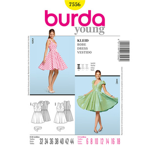 Burda 7556 Women's Dress