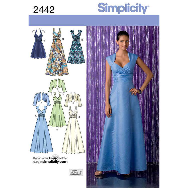 Simplicity 2442 Women's Evening And Bridal Wear