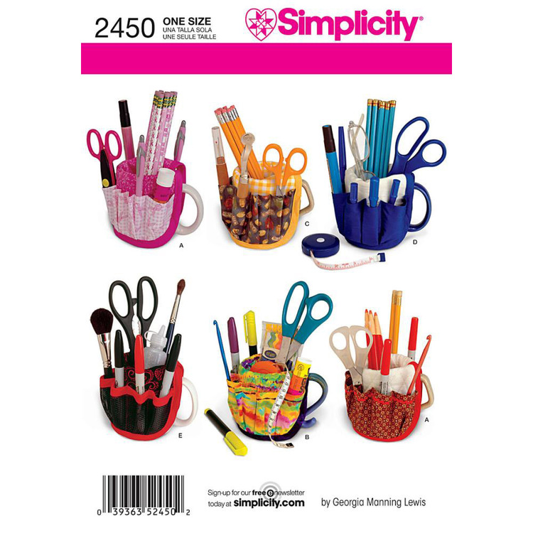 Simplicity Pattern 2450 Craft Organiser