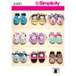 Simplicity 2491 Baby Shoes  X Small - Large