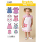 Simplicity 2461 Girl's Dress  6 Months - 4 Years