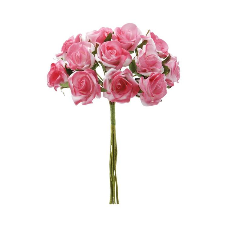 Vivaldi Blossoms 12 Head Foam Rose