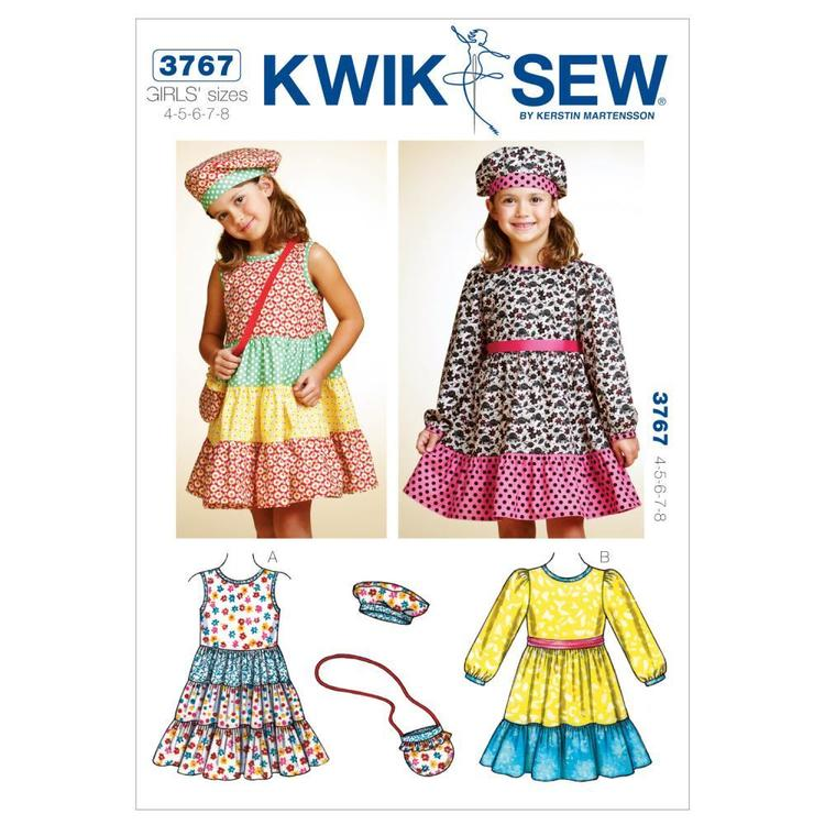 Kwik Sew Pattern K3767 Dresses Hat & Bag
