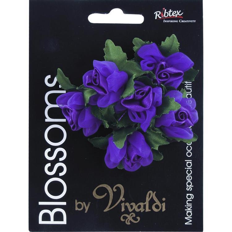 Vivaldi Blossoms 6 Head Organza Rose With Pearls