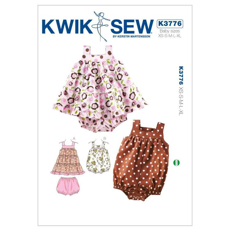 Kwik Sew Pattern K3776 Dress Bloomers & Romper