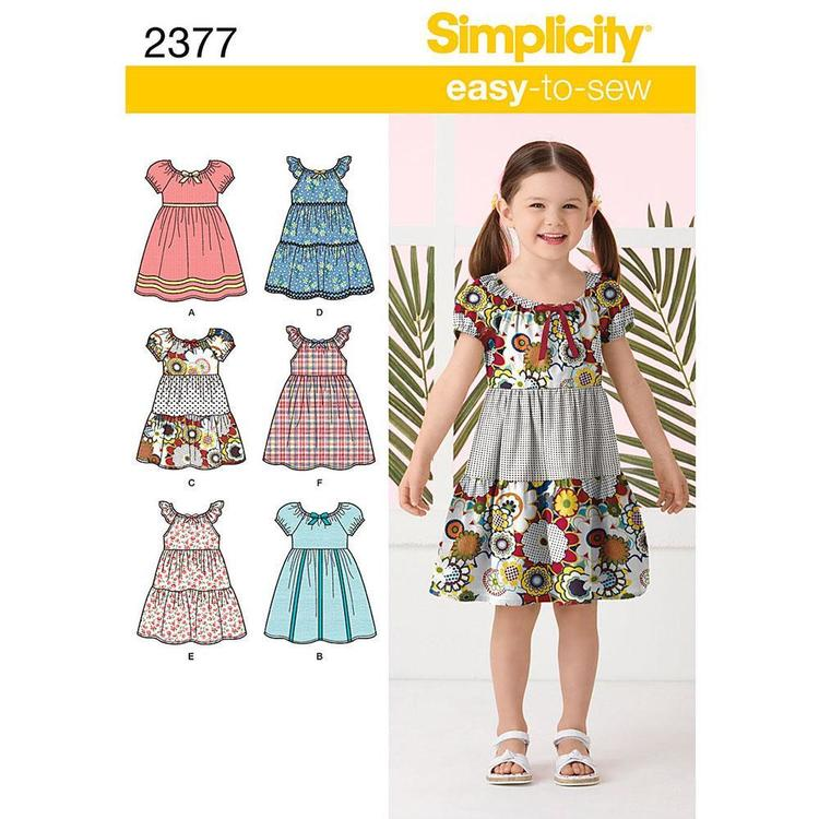 Simplicity Pattern 2377 Girl's Dress