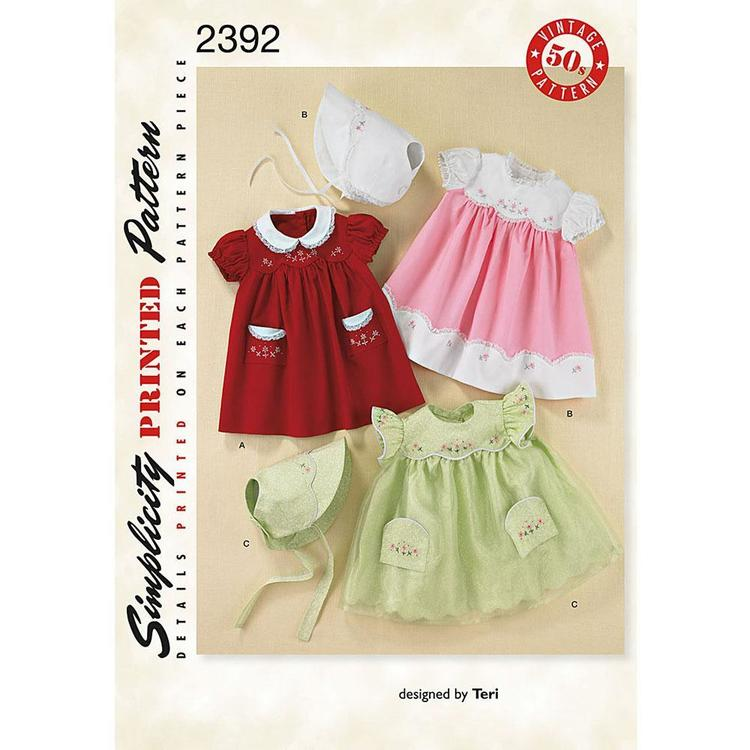 Simplicity 2392 Baby Coordinates  X Small - Large