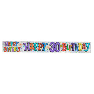 The Expressions Factory Happy 30th Birthday Banner