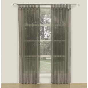 KOO Crystal Tap Top Sheer Curtains