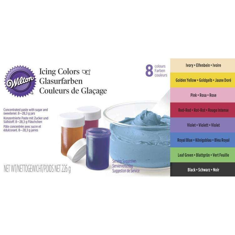 Wilton Icing Colour Set Multicoloured