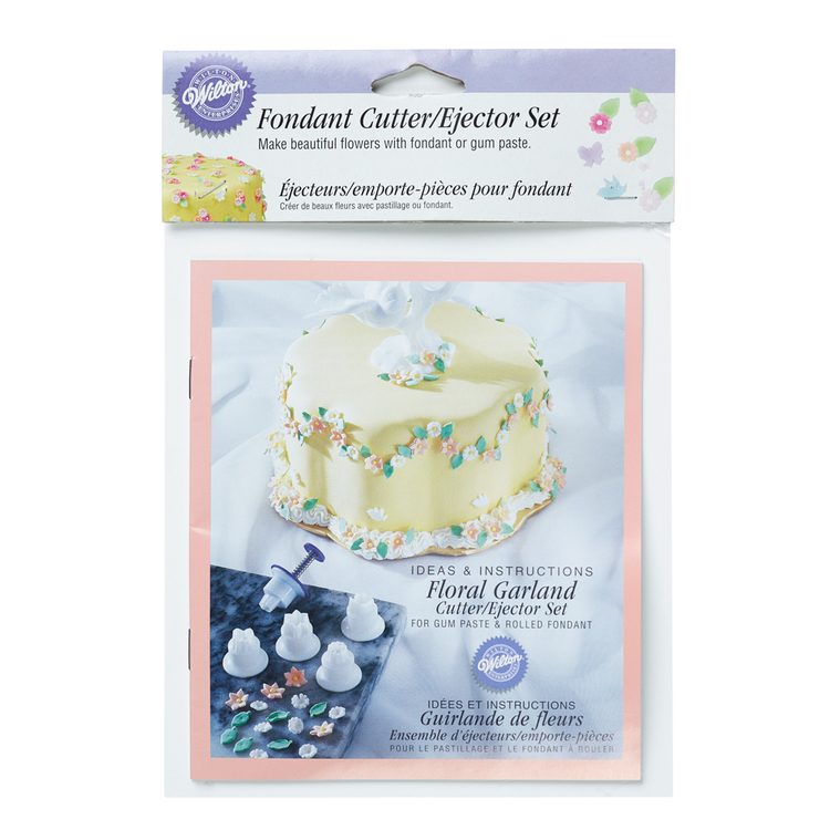 Wilton Floral Garland Ejector Set White & Purple