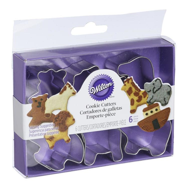Wilton Mini Noahs Ark Cookie Cutter Set Silver