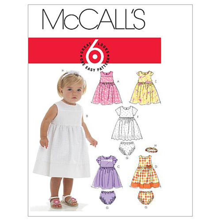 McCall's Pattern M6015 Infants' Lined Dresses Panties & Headband