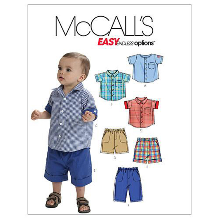 McCall's Pattern M6016 Infants' Shirts Shorts & Pants