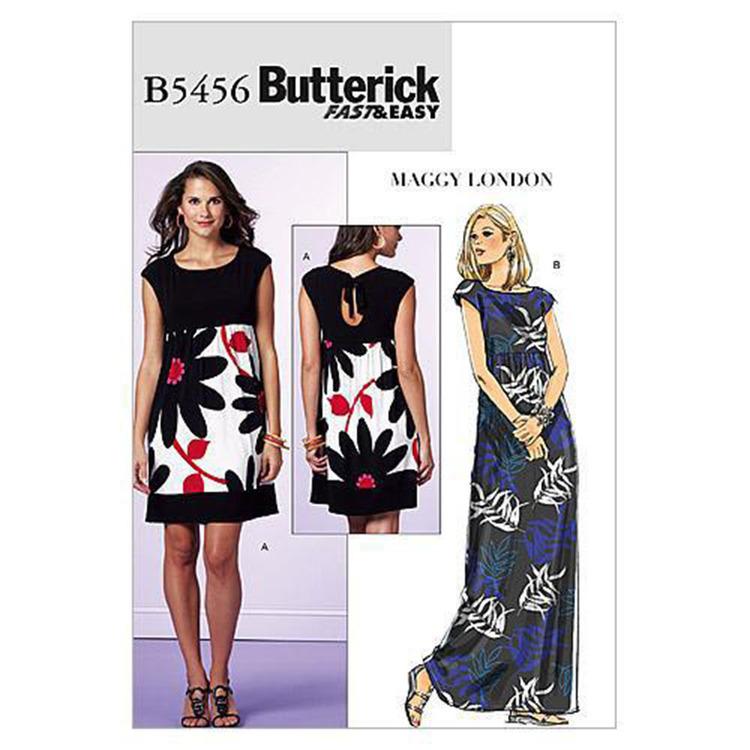 Butterick Pattern 5456 Misses' & Misses' Petite Back-Keyhole Dresses