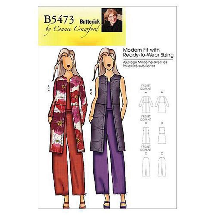 Butterick Pattern B5473 Women's Jacket Vest & Pants
