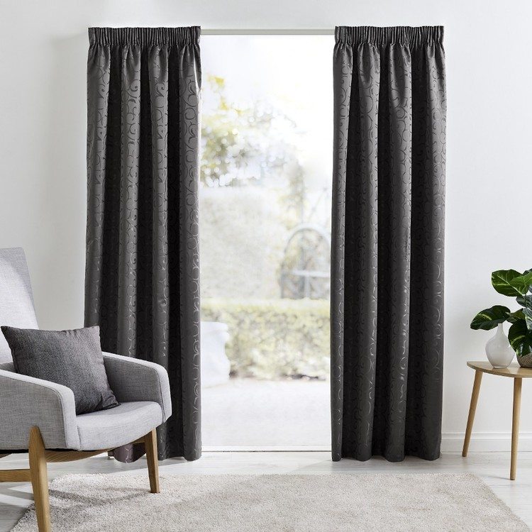 Roomaker Saratoga Thermal Pencil Pleat Curtains