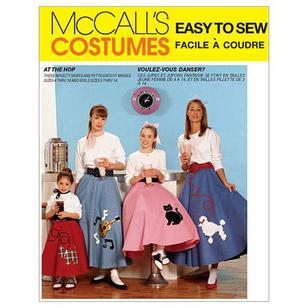 McCall's 6101 Children's, Girls' & Misses' Poodle Skirt and Petticoat