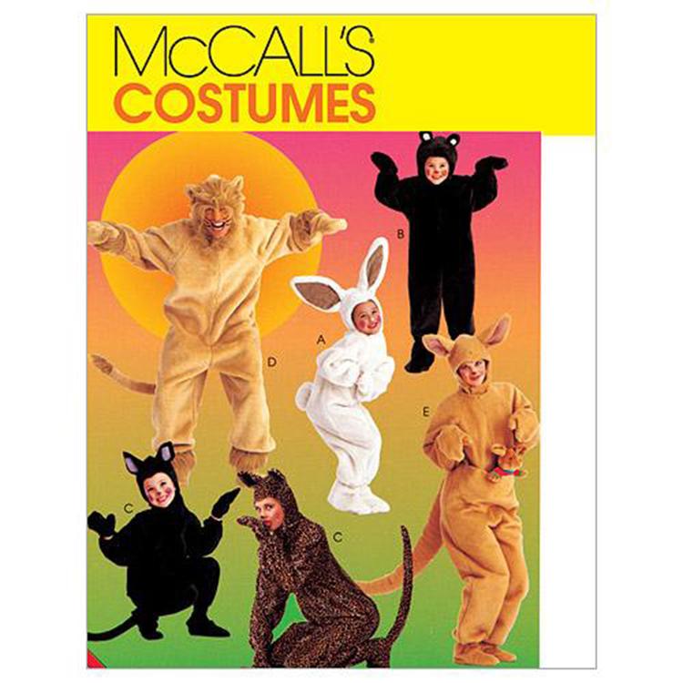 McCall's Pattern 6106 Adults' & Kids' Animal Costumes