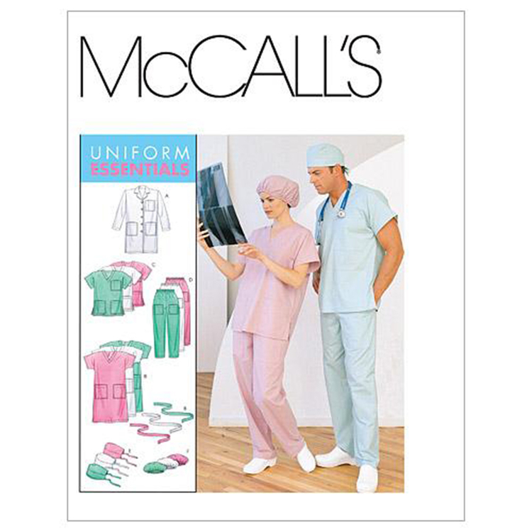 McCall's Pattern M6107 Teens' Lab Coat Dress Top Pull-On Pants Hats & Tie Belt