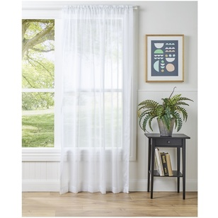 Gummerson Sheer Snow Rod Pocket Curtain