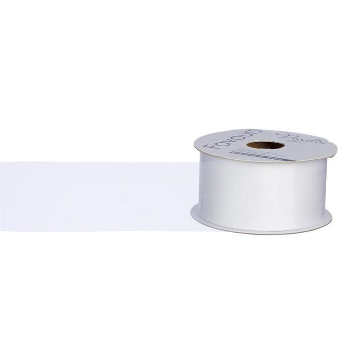 Favours 50 mm Organza Ribbon By The Metre White 50 mm